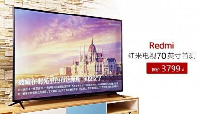 售价3799元!Redmi红米电视70英寸首测