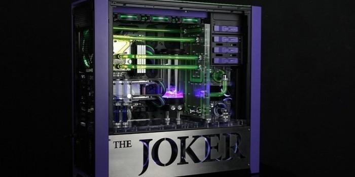 小丑紫绿主题;双色双路GTX1080Ti水冷机曝光