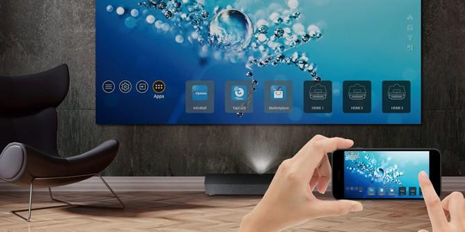 携手腾讯极光 奥图码激光电视P1全面上市