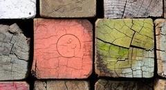 创意多彩木质背景壁纸