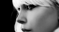 黑白美女高清手机壁纸2