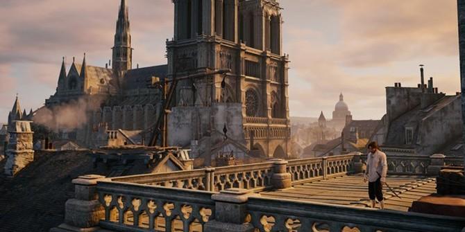 游戏拯救世界 刺客信条可助圣母院修复