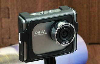 千万像素 DAZA精巧记录仪G310车上实测