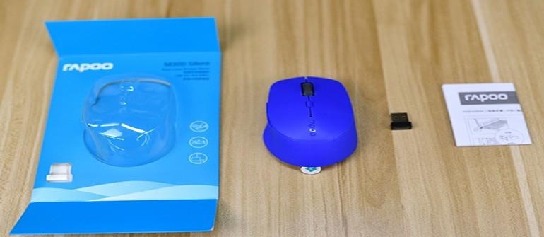 人体工程学 雷柏M300多模式无线鼠标图赏