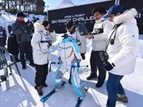 机器人也来参加滑雪比赛