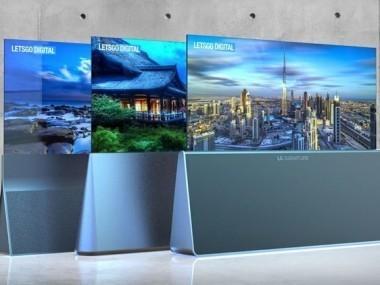 可卷曲OLED电视又出新造型