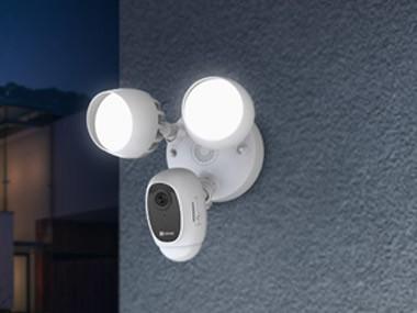 萤石发布庭院灯摄像机LC1C