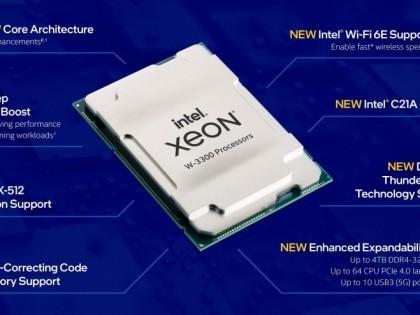 8通道4T内存 英特尔发布至强W-3300系列